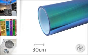10 mtr Flipflop blauw tint folie