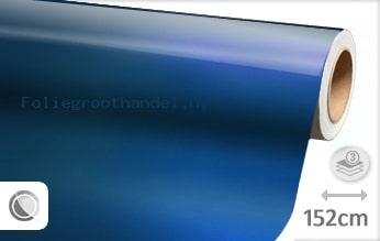 20 mtr Glans metallic blauw folie