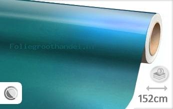 20 mtr Glans metallic lichtblauw folie