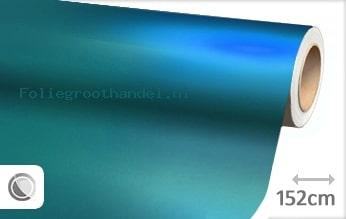 20 mtr Mat chroom lichtblauw folie