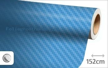 30 mtr Babyblauw 3D carbon folie
