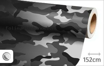 30 mtr Camouflage zwart wit folie