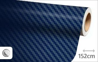 30 mtr Donkerblauw 3D carbon folie