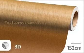 30 mtr Geborsteld aluminium goud folie
