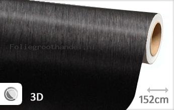 30 mtr Geborsteld aluminium zwart folie