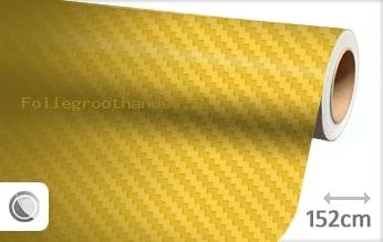 30 mtr Geel 3D carbon folie