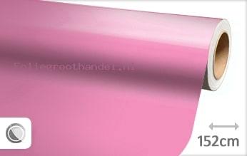 30 mtr Glans roze folie