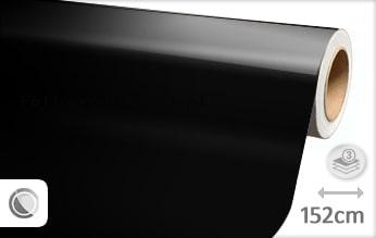 30 mtr Glans zwart folie