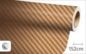 30 mtr Goud 3D carbon folie