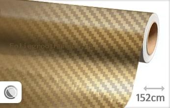 30 mtr Goud chroom 3D carbon folie