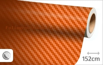 30 mtr Oranje 3D carbon folie