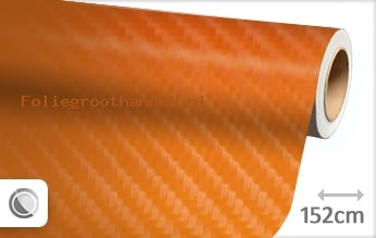30 mtr Oranje 4D carbon folie