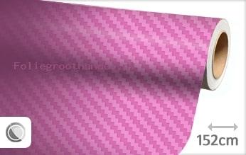 30 mtr Roze 3D carbon folie