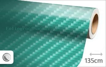 30 mtr Turquoise 2D carbon folie