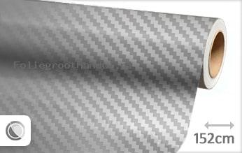 30 mtr Zilver chroom 3D carbon folie