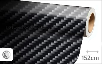 30 mtr Zwart 2D carbon folie