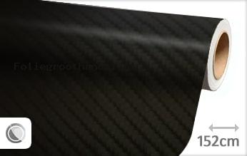 30 mtr Zwart 4D carbon folie