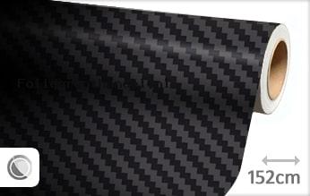 30 mtr Zwart 3D carbon groot folie